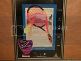 TENNIS MASTERS SERIES 2000 POSTER INDIAN WELLS SIGNED BY ARTIST KEVIN BROM FRAMED 265 X 20